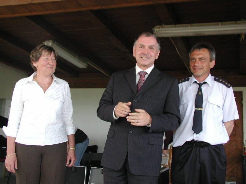 paní starostka s panem hejtmanem při přivítání